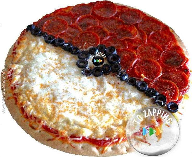 C mo hacer una pizza pokeball for Como instalar una pizzeria