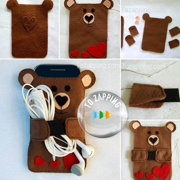 Funda para m vil de oso - Decorar funda movil ...