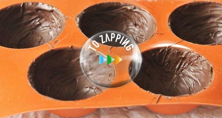 Cúpulas de chocolate y caramelo