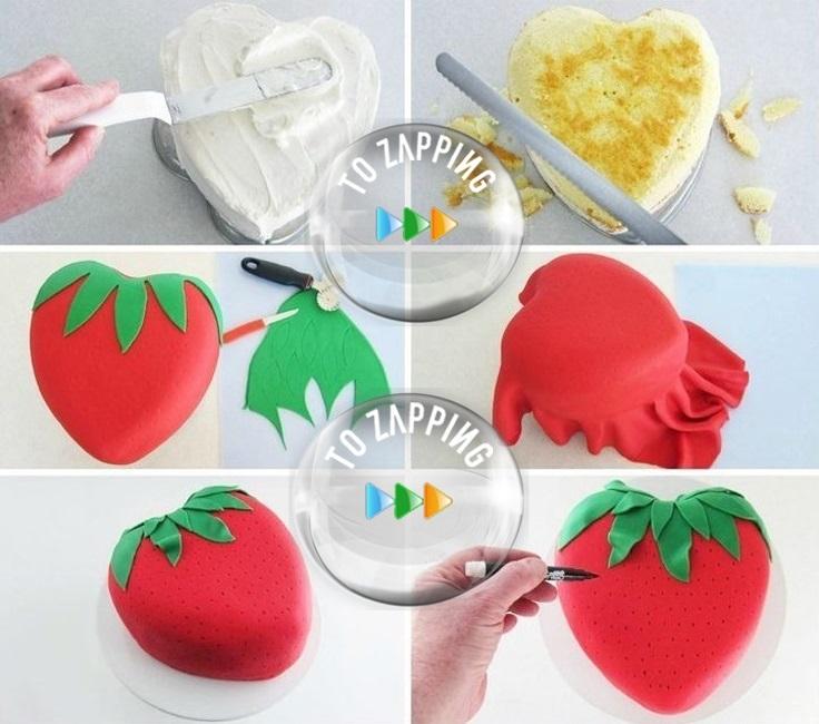 Cómo Hacer Una Tarta Piñata Con Forma De Fresa