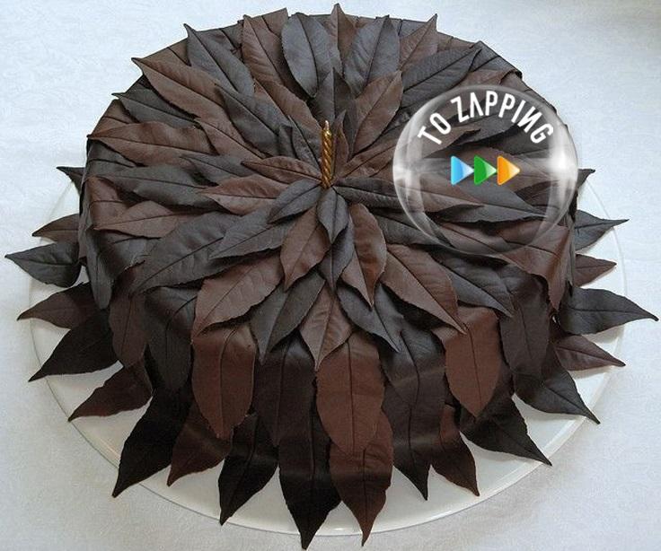 Cómo hacer hojas de chocolate