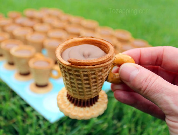 Taza de té de galletas