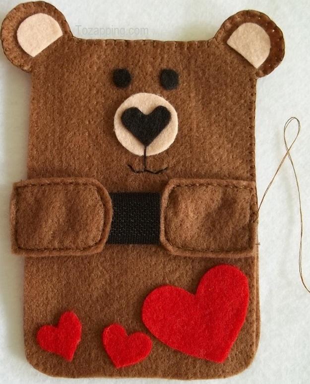 Ajuste funda para móvil de oso