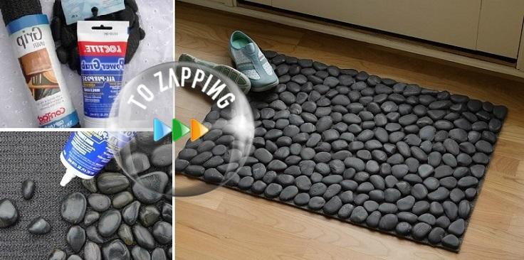 Cómo hacer alfombra con piedras