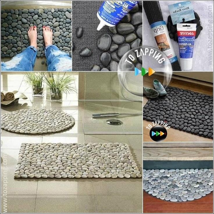 C mo hacer alfombra con piedras - Como hacer alfombras de nudos ...