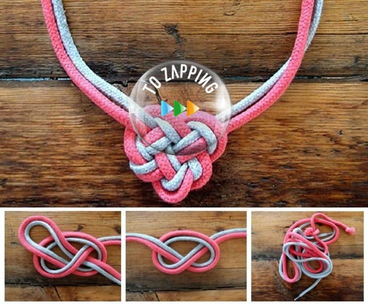 Cómo hacer un collar de nudos celtas con cordones