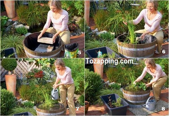 Como hacer un mini estanque