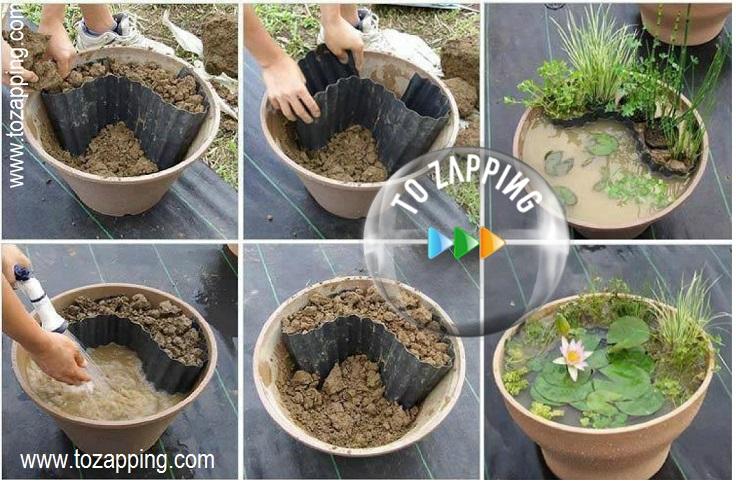 C mo hacer un mini estanque for Como hacer jardines pequenos de casas
