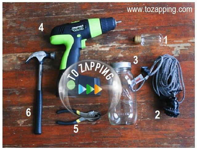 Cómo hacer una lámpara con un tarro de cristal