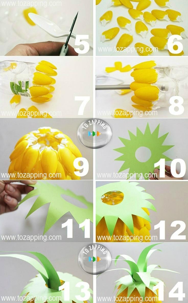 Cómo hacer una lámpara en forma de piña