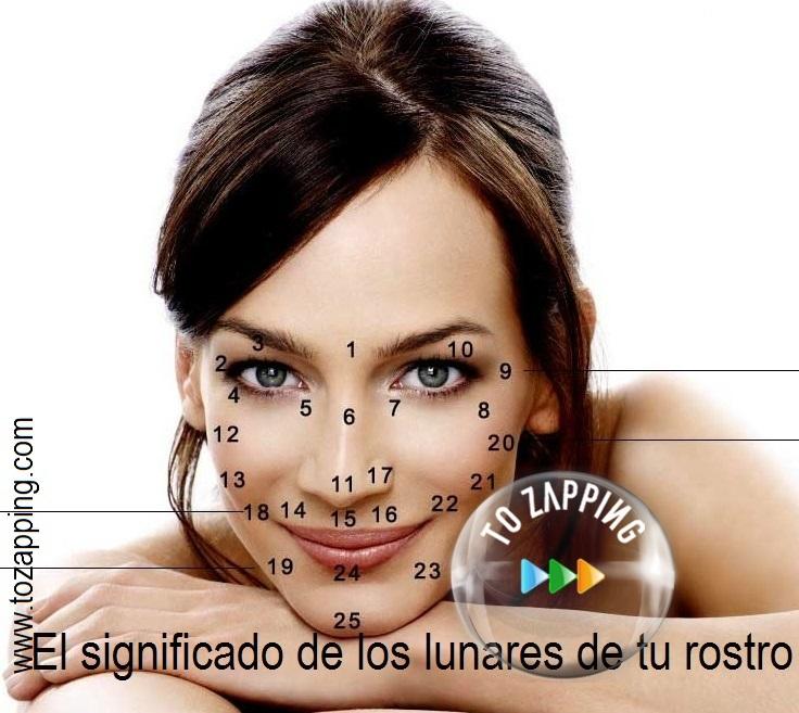 El significado de los lunares de tu rostro