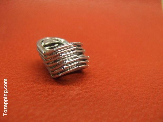 Lámparas hechas de anillas