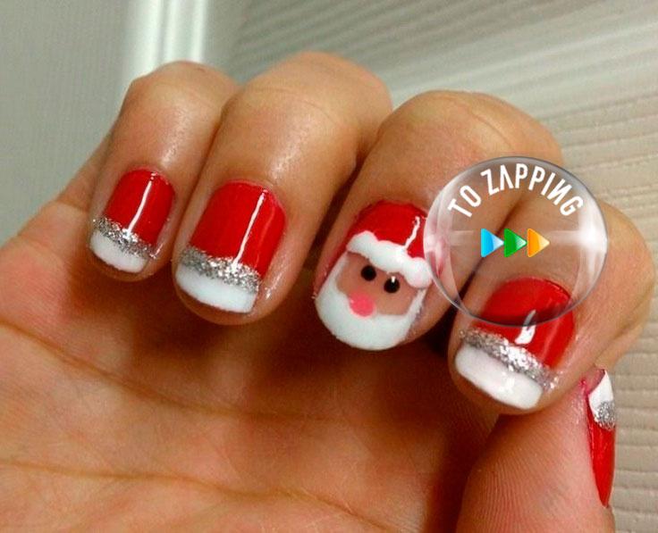 Manicura De Papá Noel Para Navidad