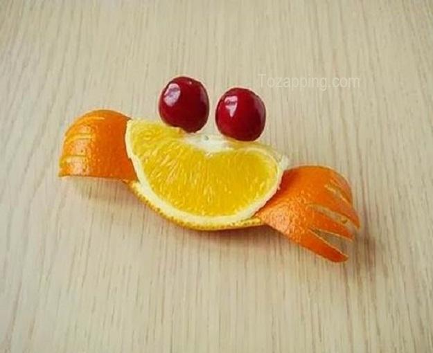 Cómo hacer Naranjas con forma de cangrejo