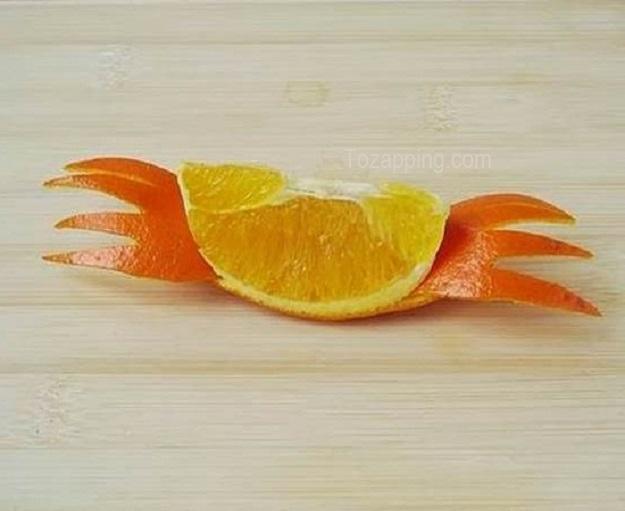 Cómo hacer cangrejos con naranjas