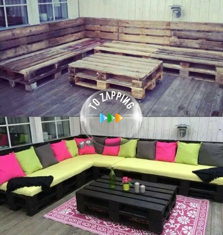 C mo hacer sof con palets for Sofas con palets para jardin