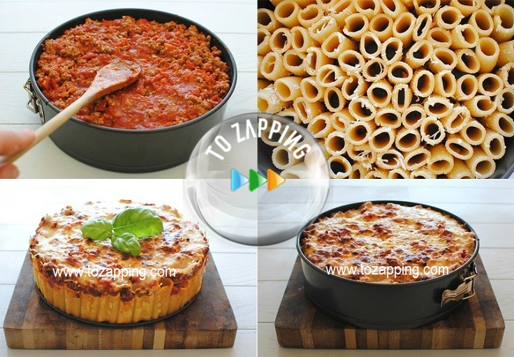 Pastel De Pasta Con Rigatoni