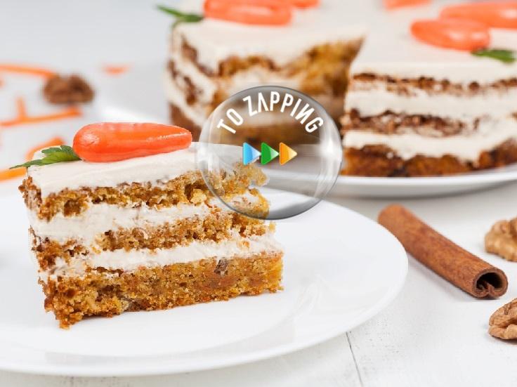 Porción de Pastel de Zanahoria