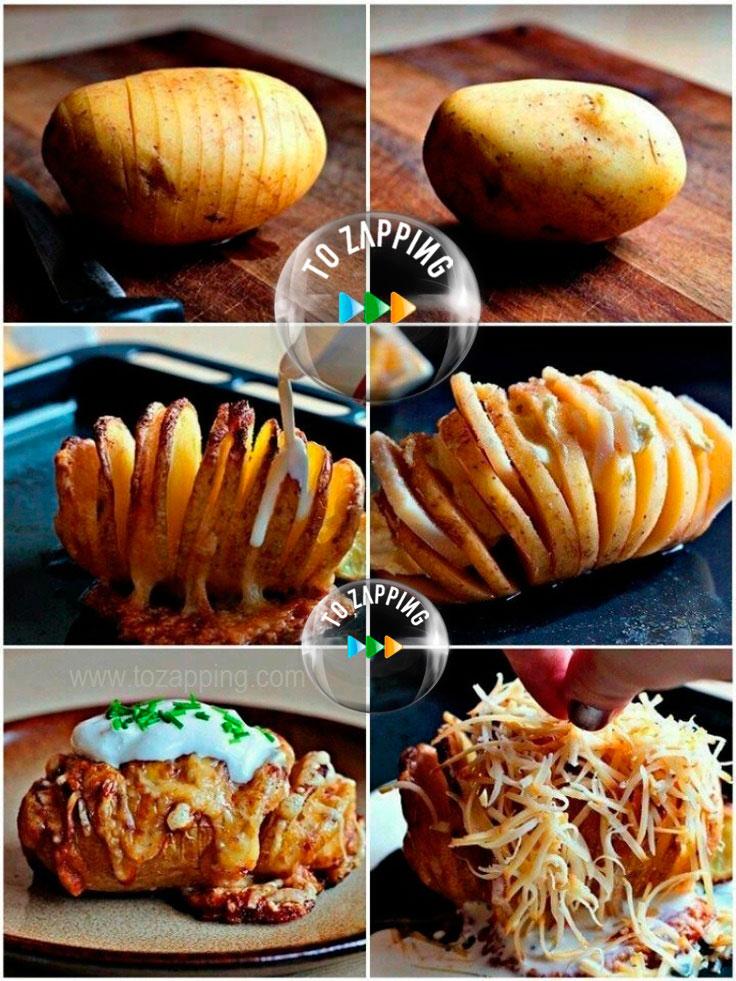 Patatas Al Horno Con Queso Crema