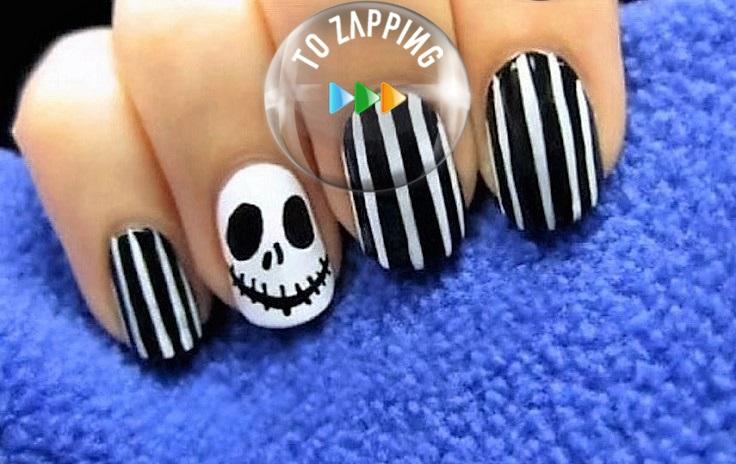 Uñas diseño Halloween manicura para fiesta