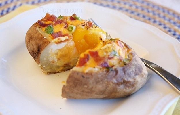Patatas Rellenas con Huevo al horno Instrucciones