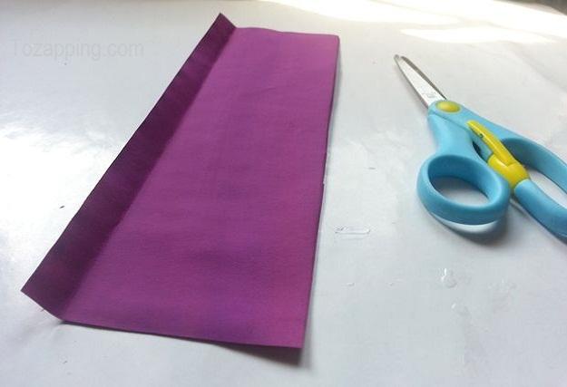 Preparación de las tiras de papel