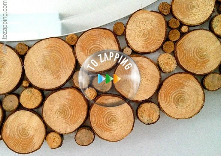 Espejos hecho de tronco