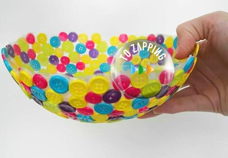 Cómo hacer un bowl con botones