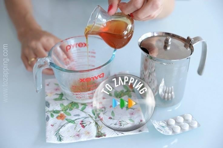 Peeling casero miel y aspirina
