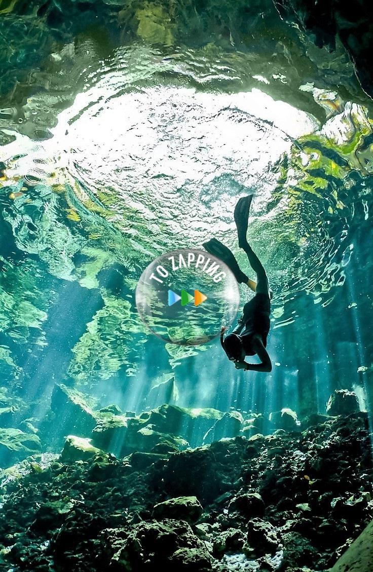 El buceo en cuevas Peninsula de Yucatan Mexico