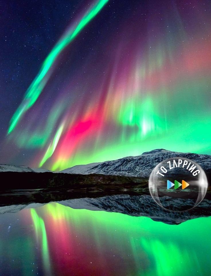 Una aurora boreal noruega