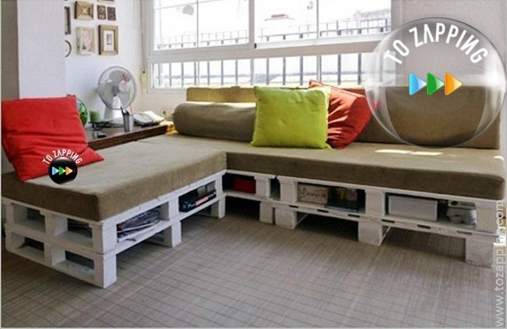 C mo fabricar un sof de palets - Sofas con palets ...