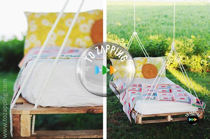 Cómo hacer cama columpio con palets para jardín