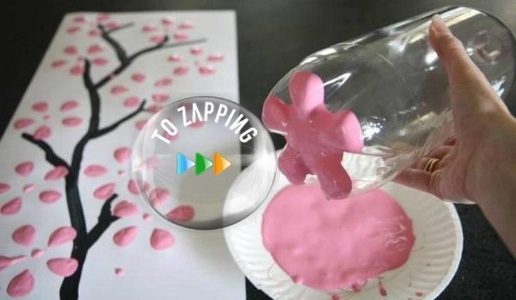 Cómo hacer flores con botella de plástico