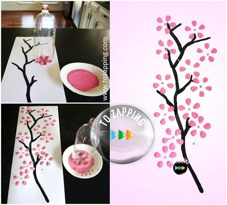 C mo hacer flores con botella de pl stico - Pintar botellas de plastico ...