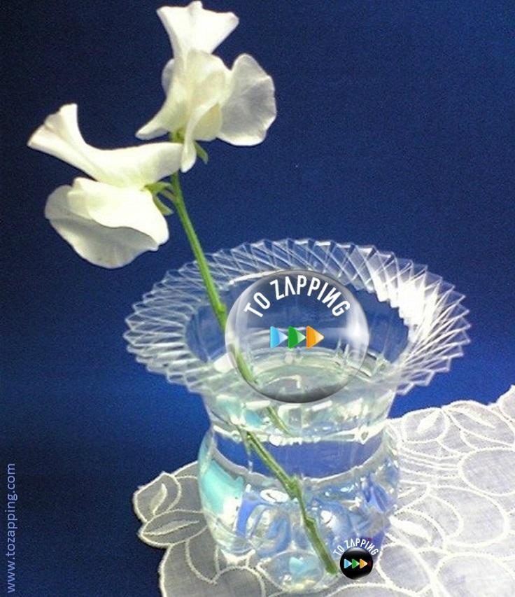 Cómo hacer un florero con una botella de plástico