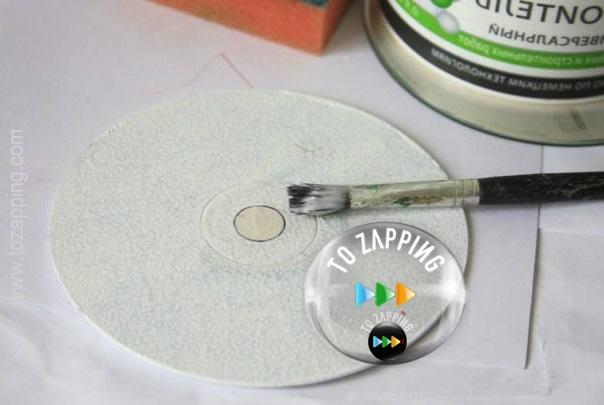 Técnica decoupage con papel y cds