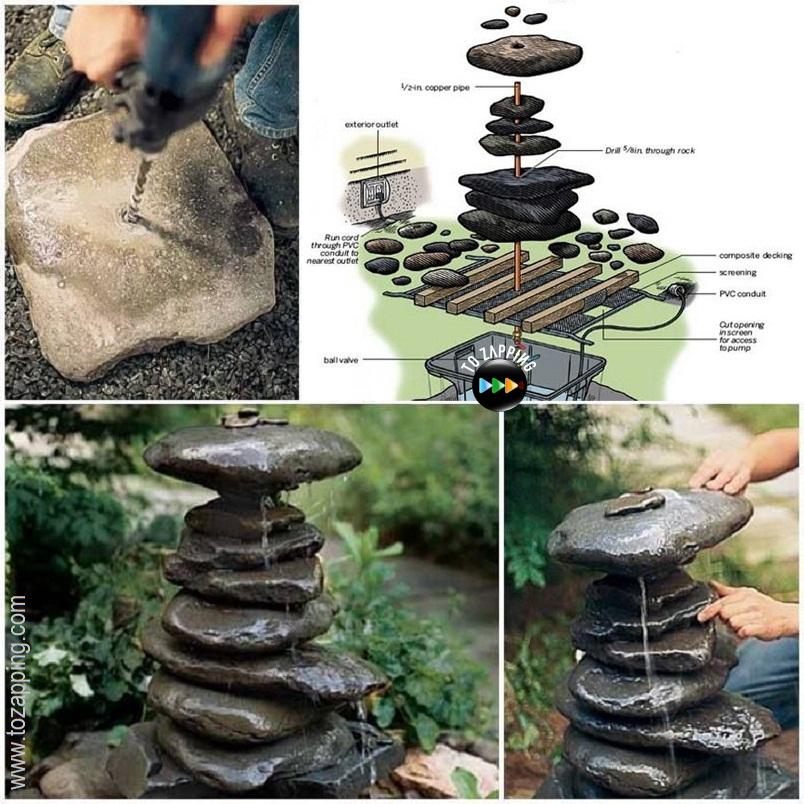 C mo construir una fuente para jard n - Fuente de pared para jardin ...