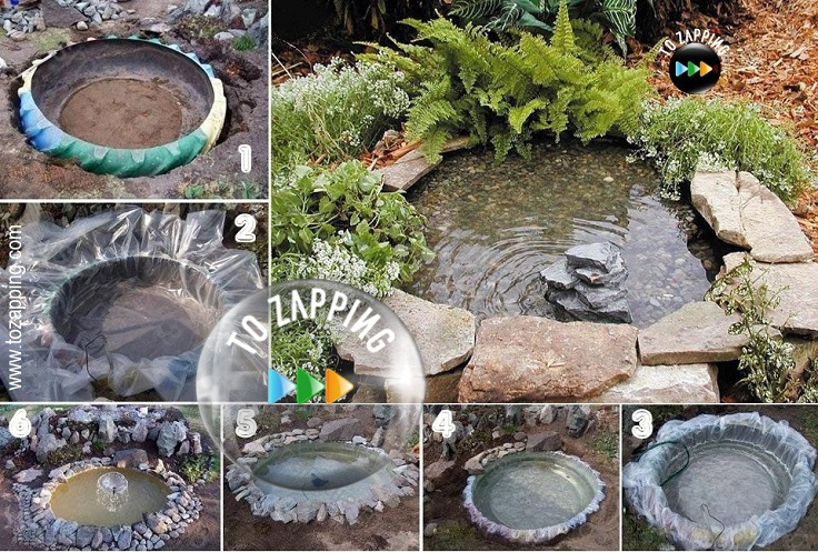 C mo hacer paso a paso un estanque para el jard n for Blower para estanques de peces