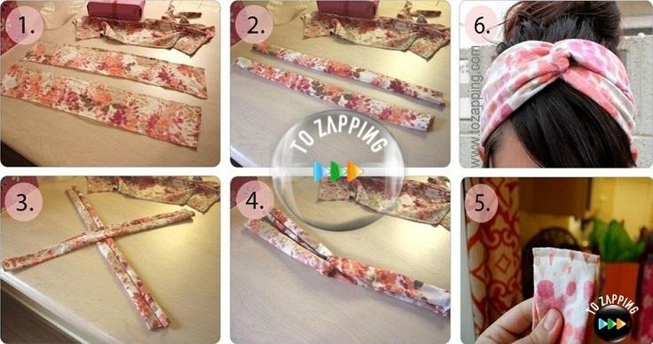 Cómo hacer una diadema turbante