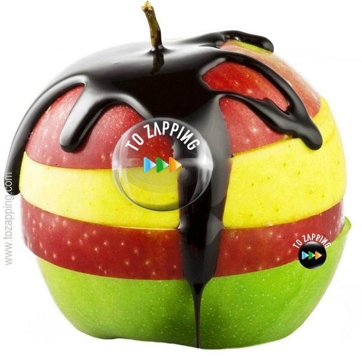 Receta manzana fresca cortada con chocolate y propiedades