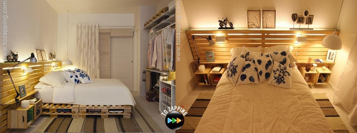 C mo hacer cama con palets for Como hacer una cama alta de madera