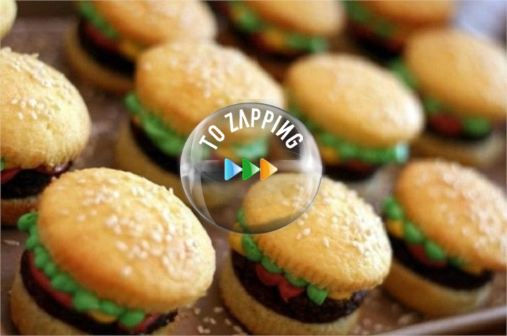 Cupcakes de hamburguesas