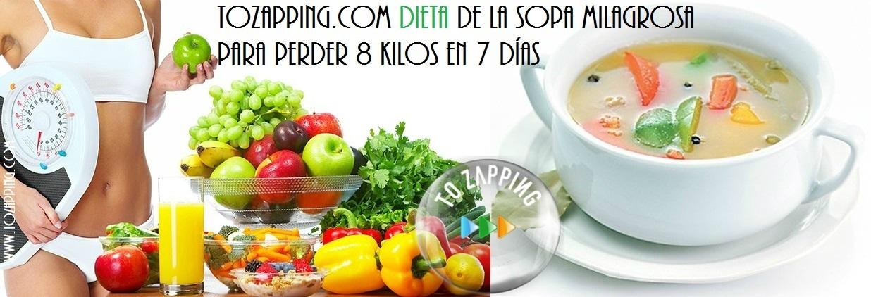Dieta De La Sopa Milagrosa Para Perder 8 Kilos En 7 Días