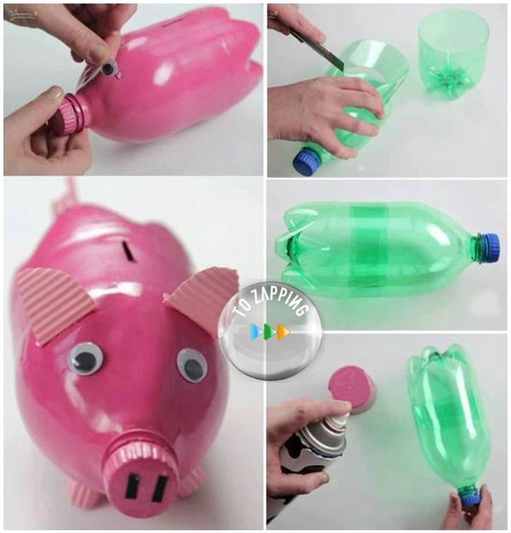 Manualidades de botellas de pl stico para ni os - Manualidades con botellas de plastico faciles ...