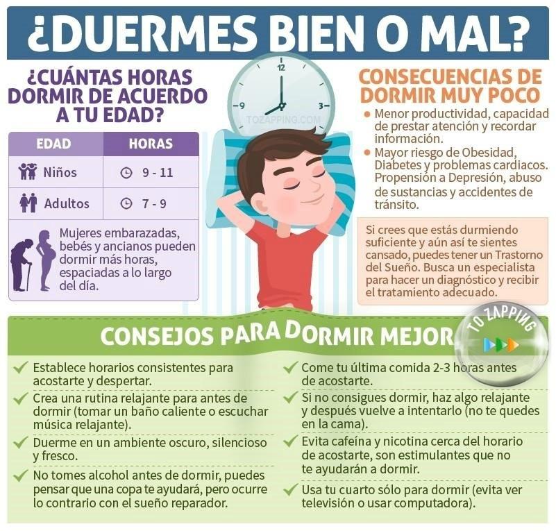 Cinco Pasos Para Dormir Bien - Tozapping.com