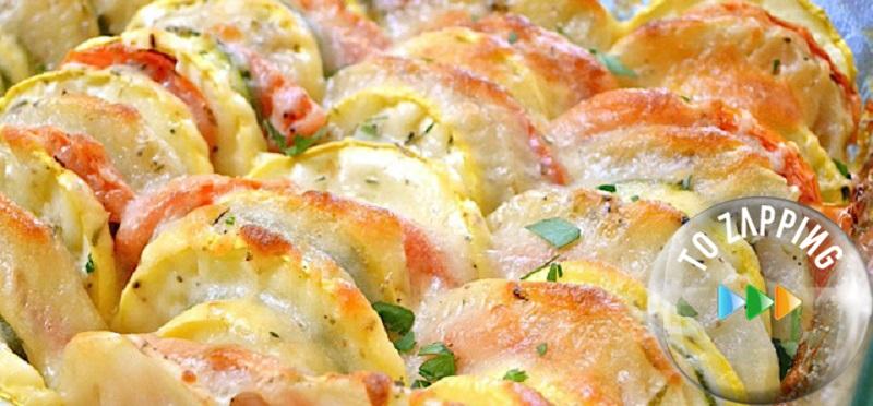 Verduras al horno con queso