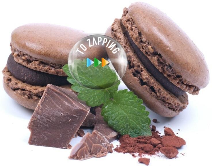 Macarons de chocolate sabrosos