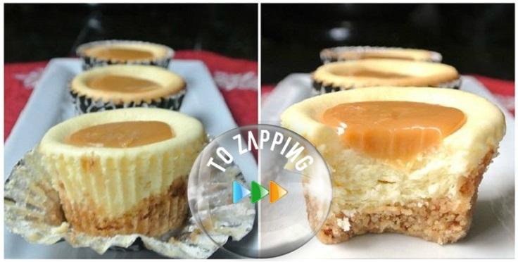 Mini pasteles de queso y caramelo