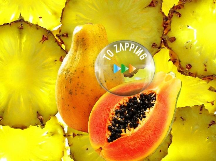 Zumo de papaya y piña para aliviar la indigestión